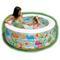 Надувной бассейн аквариум с надувным дном intex 58480