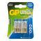 Алкалиновые батарейки gp aаa 4 шт ultra plus alkaline 24а 24aup-2cr4